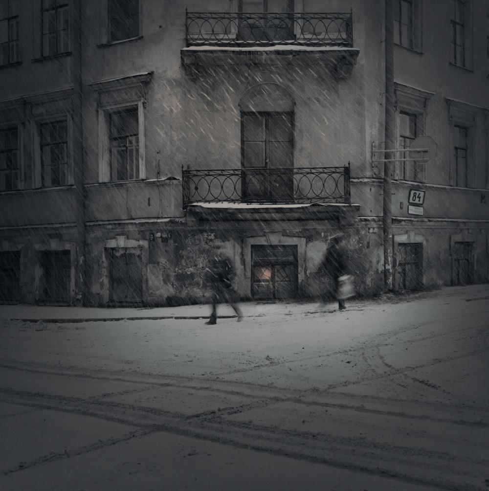 Evening snow, 1996