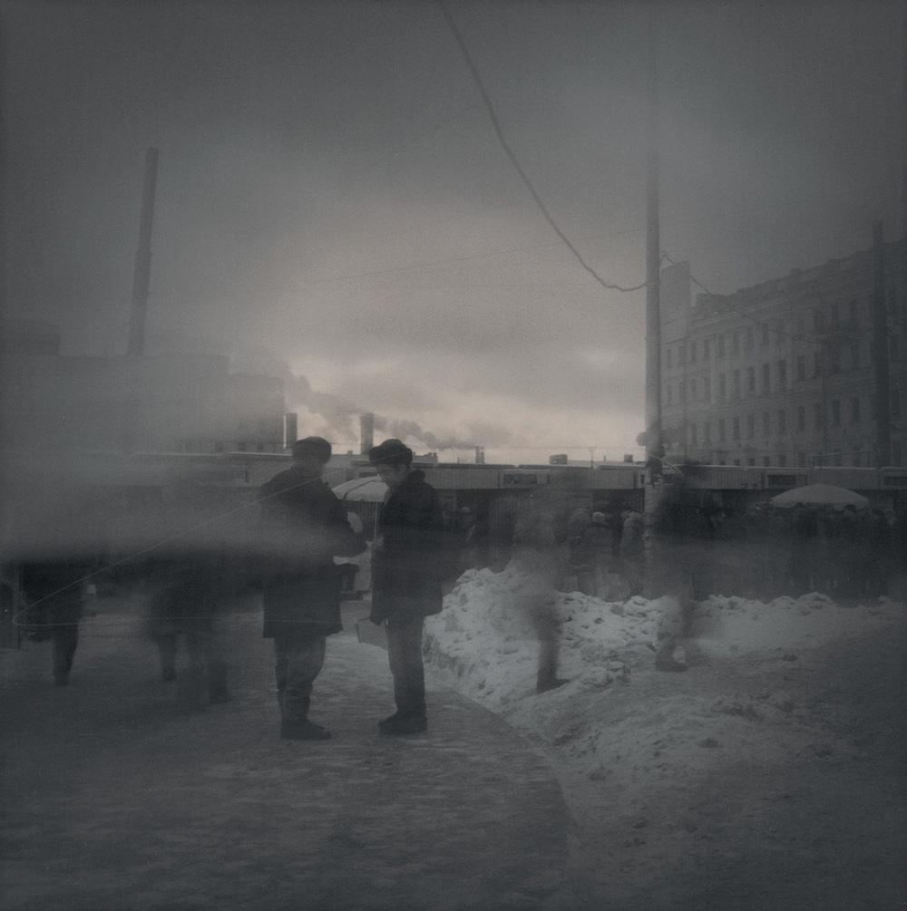 Evening smog (Asking for a cigarette), 1995