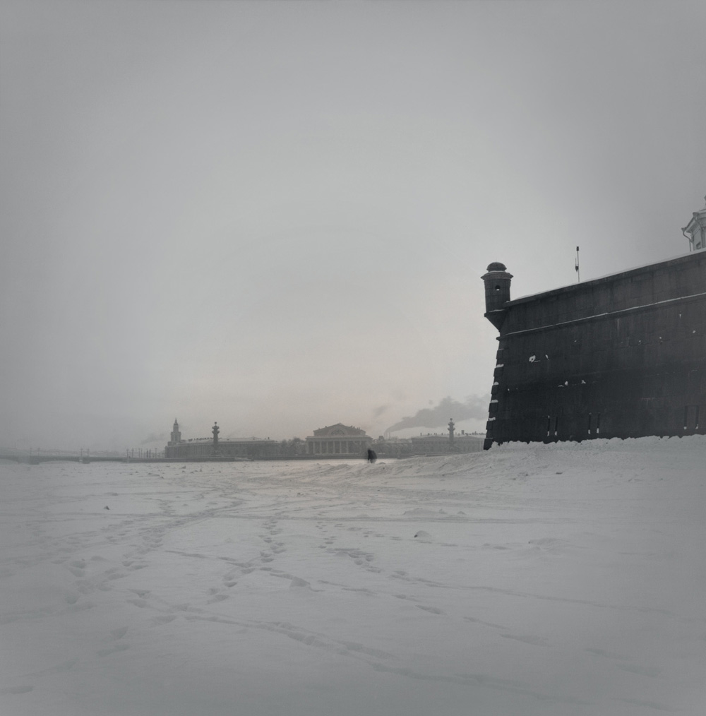 Frozen Neva River near Peter and Paul Fortress, 1996