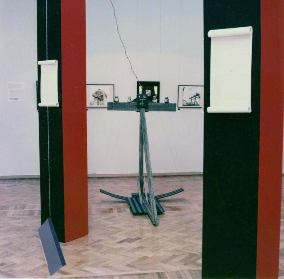 """Nomenklatura of signs"" in Russian State Museum, St.Petersburg, 1993"