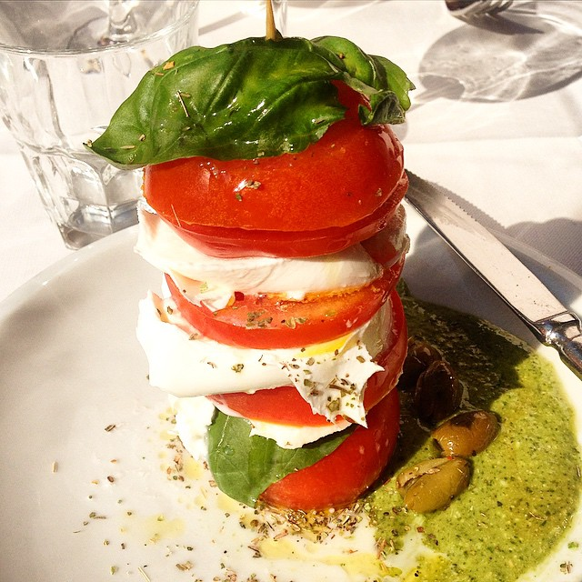 Caprese never looked so good #notleavingever