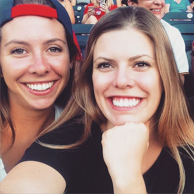 So much fun celebrating @lindseygnazzo's birthday last night at the Nationals game... I may not know much about baseball, but I do know a good chili dog when I see one