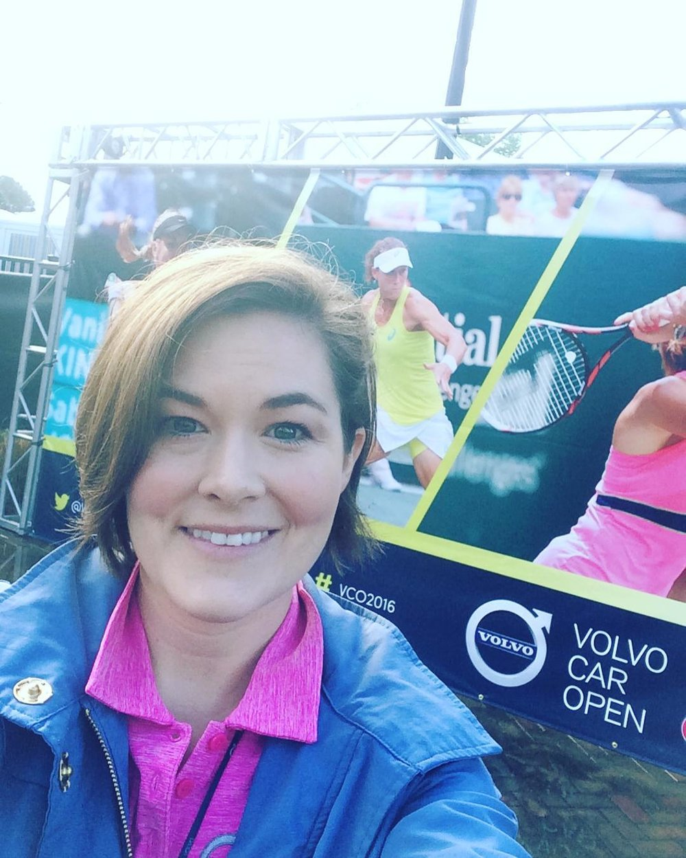 Here we go, kicking off day 1 of the #volvocaropen. I can't believe that this is our sixth year handling all the pr and media relations for the tournament. 🎾🏆 #vco2016 #omwerkperks