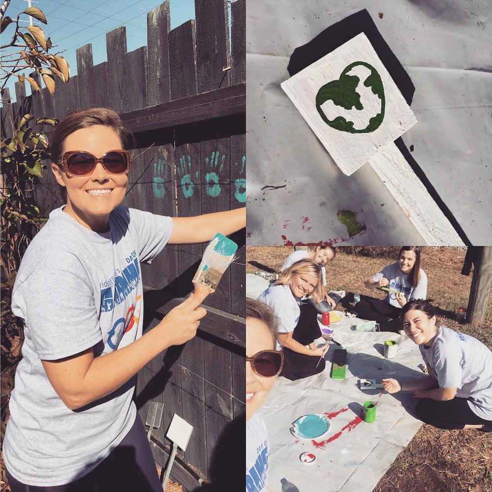 Spent the morning volunteering for @greenheartchs with my @obviouslee peeps. You know what they say.....the office that volunteers together, stays together! #omwerkperks 💚