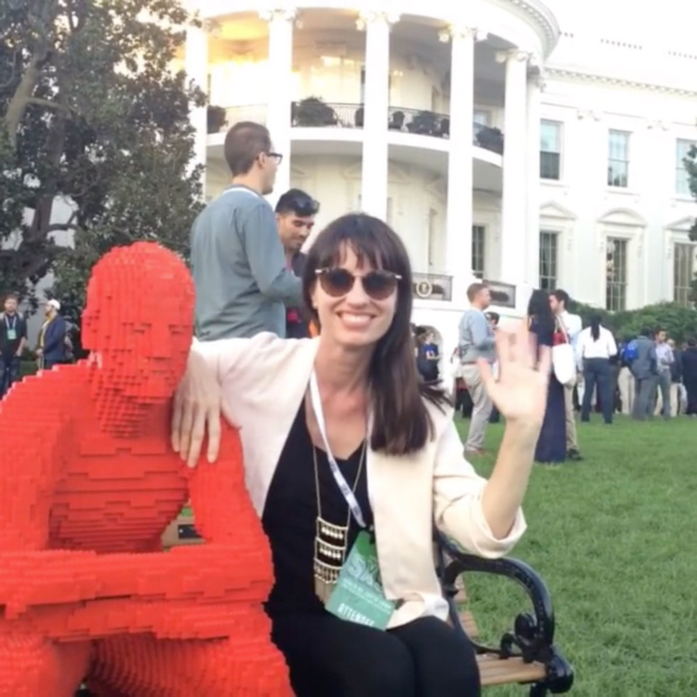 Oh heeeeey, from the  @whitehouse . Just me and Lego dude and Potus hanging at South x South Lawn.  #sxsl  #chs   #tech