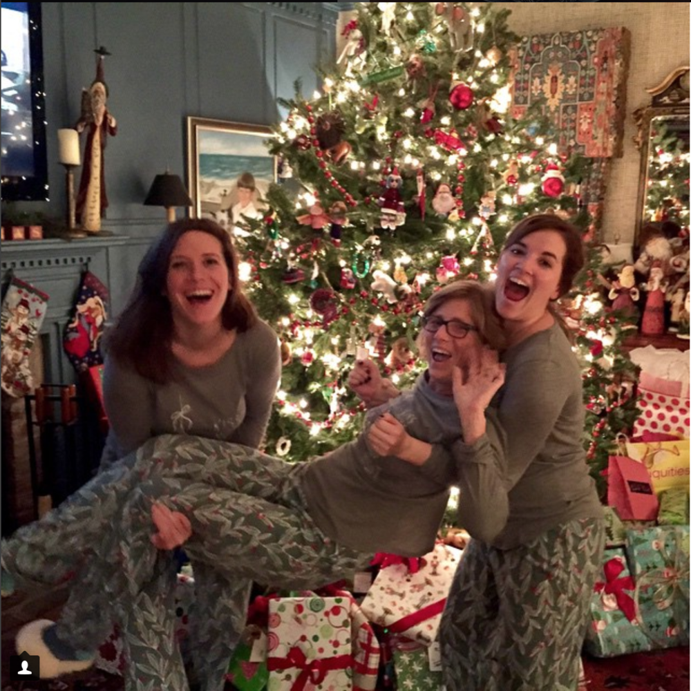 Nothing says family like matching pjs and a staged photo (never too old). I love Christmas. Not pictured: My two brothers avoiding photographic evidence