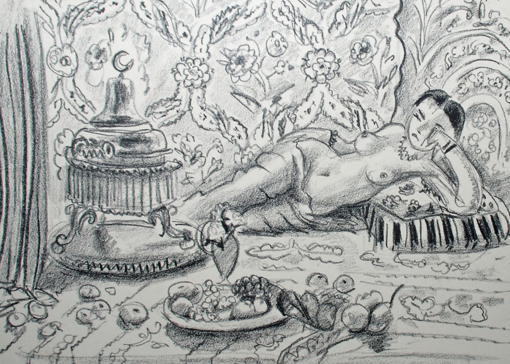 Odalisque, brasero et coupe de fruits, 1929
