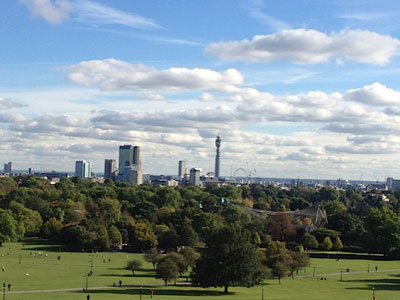 Stunning views of London from Primrose Hill