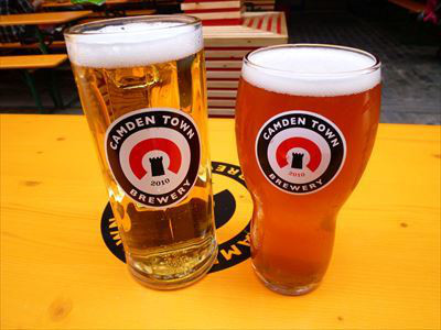 Be sure to order a pint of beer from Camden Town Brewery