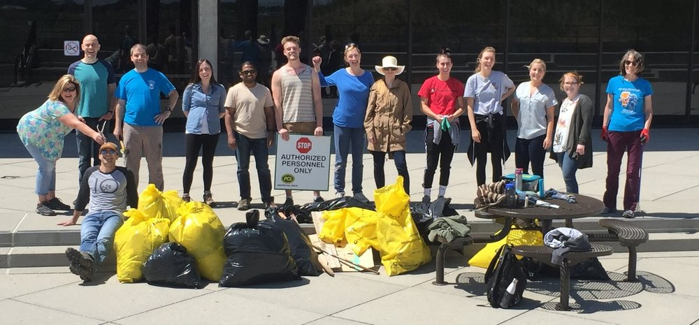 The Birdsong Lab participated in the annual Coulee Cleanup. Taka, Liam, Jake, and David spent an hour walking around the coulees outside the U of L, picking up trash and watching the wildlife. We collected a big bag of trash and, thanks to Taka, saw a big porcupine and a little rattlesnake.