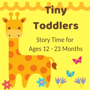 Tiny Toddlers  Wednesdays, April 1 - May 8   10:15 to 10:35 AM Ages 12 - 23 months