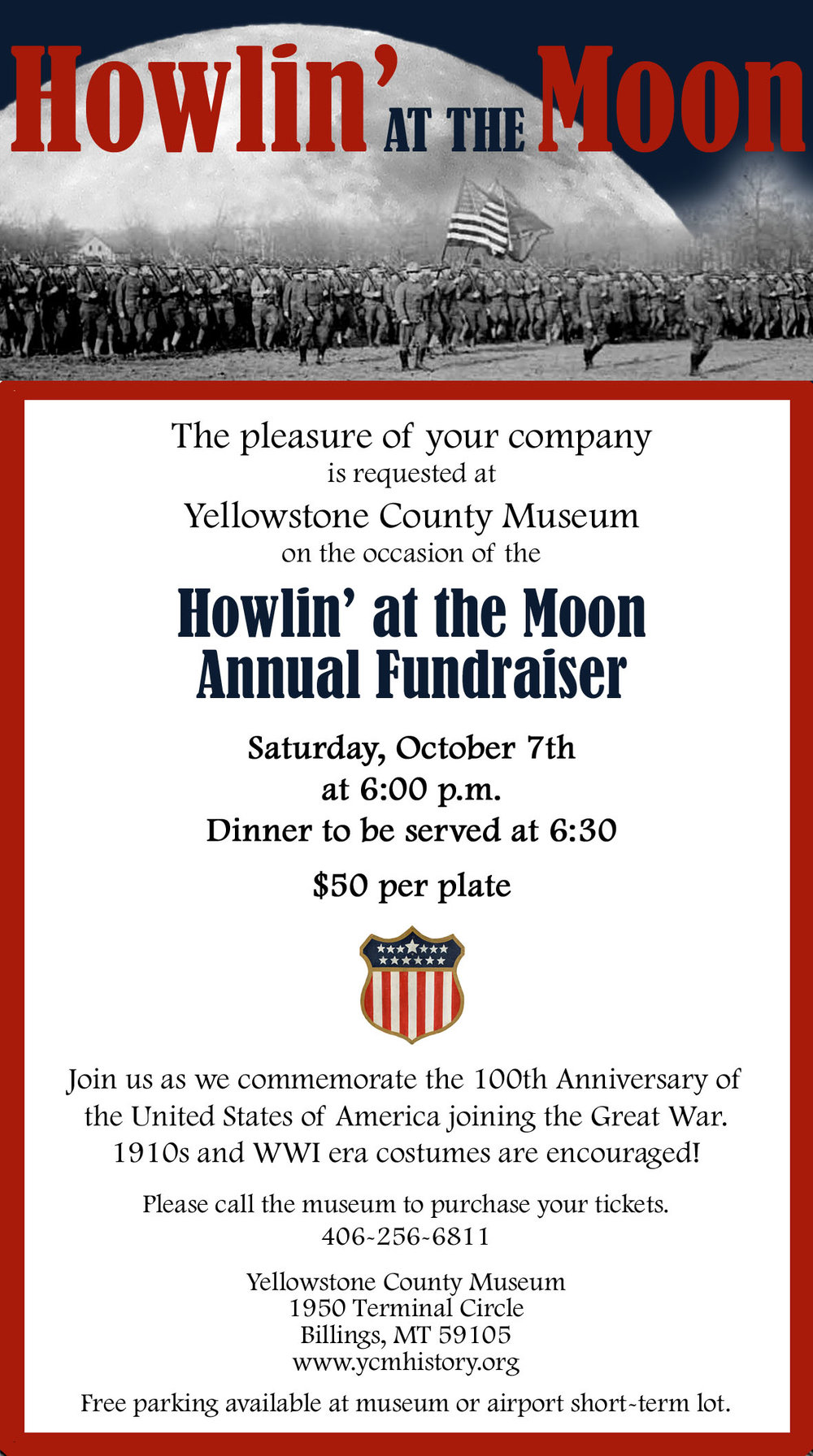 Howlin' at the Moon Event Page-Click Here for More Information