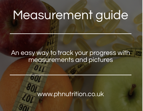Measurement guide - Our simple to use measurement guide. A great way to track progress