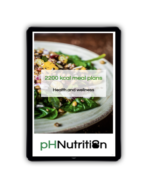 2200 calorie meal plans - Meal plan examples for 2200 kcal for morning, lunchtime and evening training