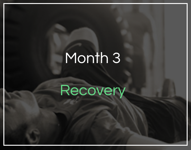 Month 3 - Recovery - Our step by step guide to maximising your recovery, managing muscle soreness, foods for recovery and how to set new goals.