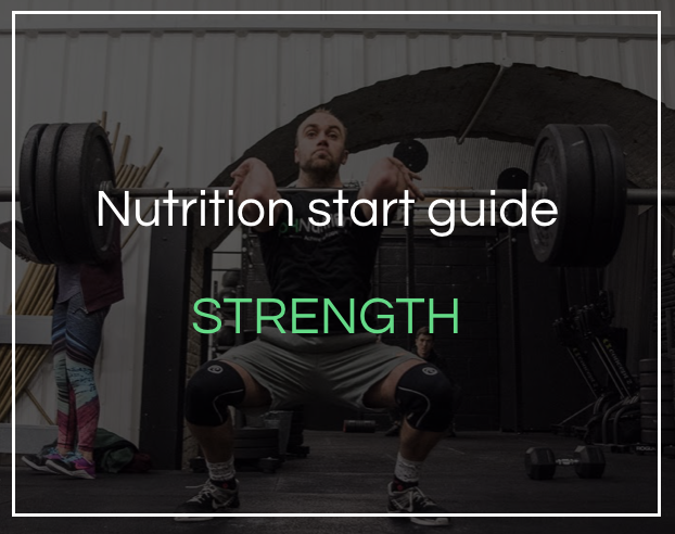 Nutrition for strength start guide - Download for an overview of how to get your fat loss nutrition plan started.