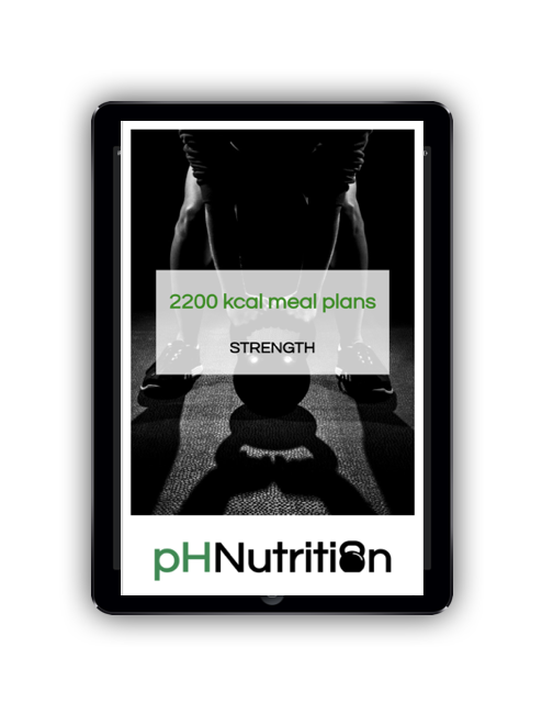 2200 calorie meal plans - Meal plan examples for 2200 kcal for morning, lunchtime, evening and double training