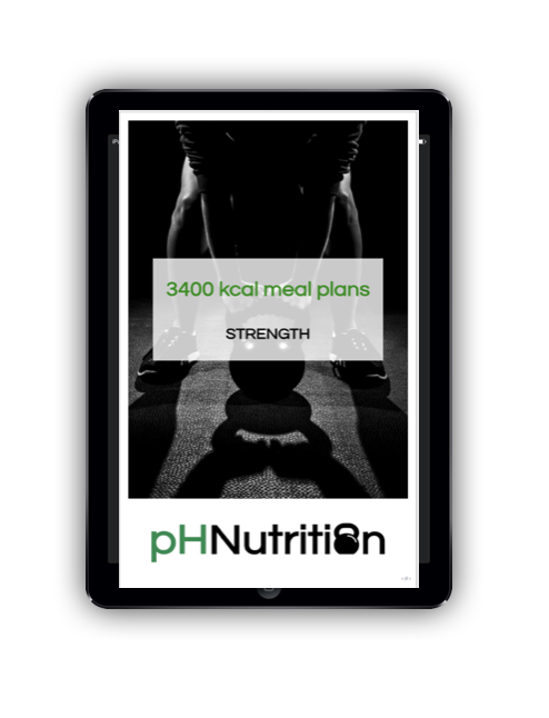 3400 calorie meal plans - Meal plan examples for 3400 kcal for morning, lunchtime, evening and double training
