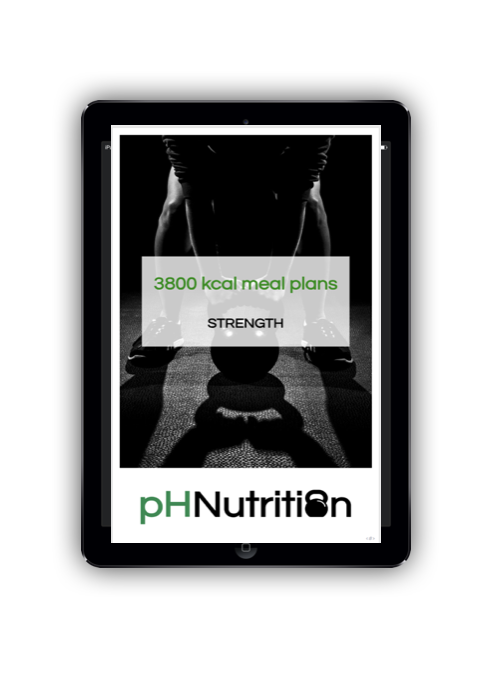 3800 calorie meal plans - Meal plan examples for 3800 kcal for morning, lunchtime, evening and double training