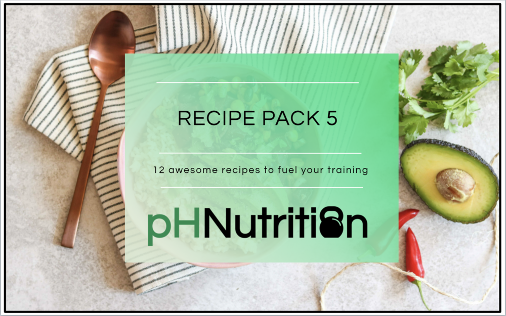 MONTH 5 - 12 awesome recipes to help fuel your training.A few highlights include the spinach shakshuka, the salmon tray bake and the sweet potato sag aloo. A sample meal plan is included as well :)