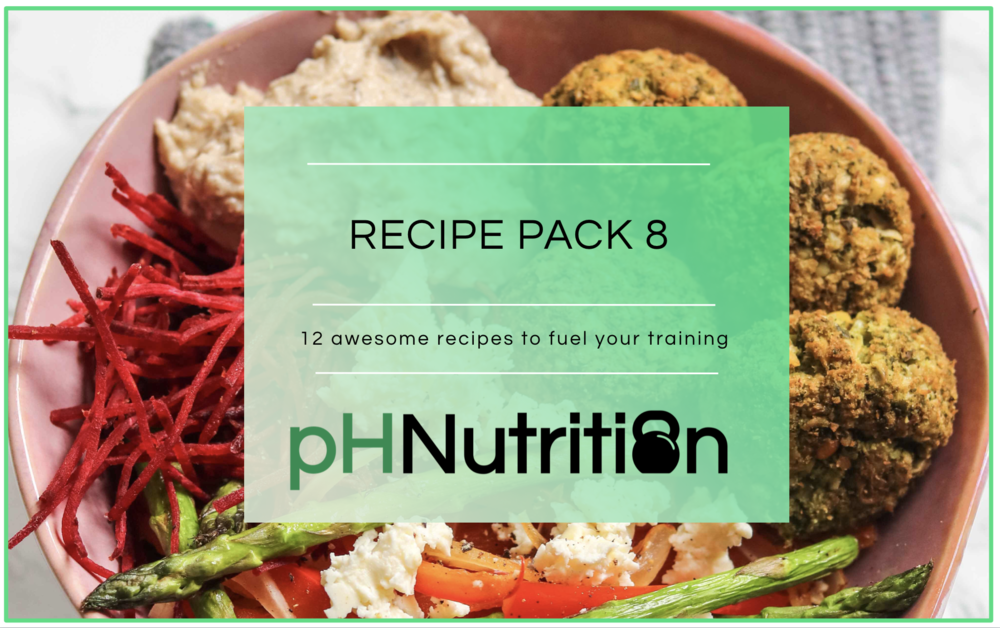MONTH 8 - 12 awesome recipes to help fuel your training.A few highlights include the Lebanese falafel bowl, a burrito bowl with grilled chicken and the greenest matcha chai pudding ever!!