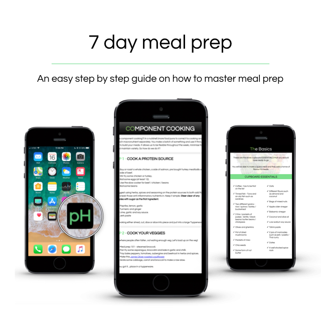 7 day Meal prep - Our 7 day meal prep provides you with the tools to become a kitchen ninja!———————————————-Meal prep strategiesBulk cooking and no cook recipesTime saving tipsEating on the goRecipe pack and kitchen guide