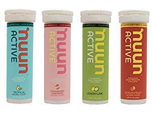 NUUN hydration tablets  - Excellent hydration tablets to pop in your water bottle or shaker.