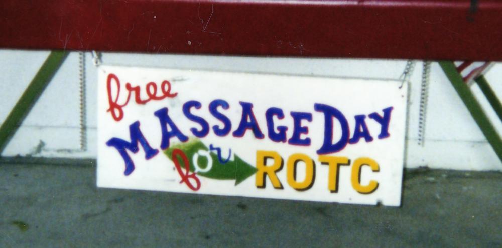 Purification Project/Free Massage Day  CSULB, Long Beach, CA 2002