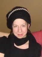 The author wearing a crochet hat made by Sew Dandee circa 2008.
