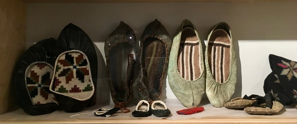 Hand made wool insoles.