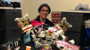 Helping the homeless - Local sock drive to collect socks for the homeless