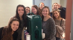 Buy a coffee - Have students raise funds to buy coffee for teachers, admin and the janitorial staff