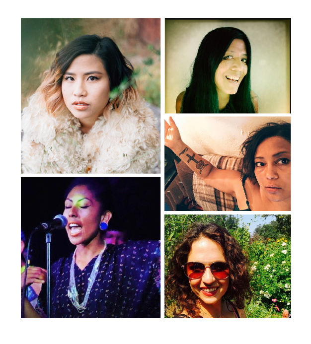 From top left & clockwise: Michelle Lin, Maw Shein Win, MK Chavez, Marguerite Munoz,            Thea Matthews