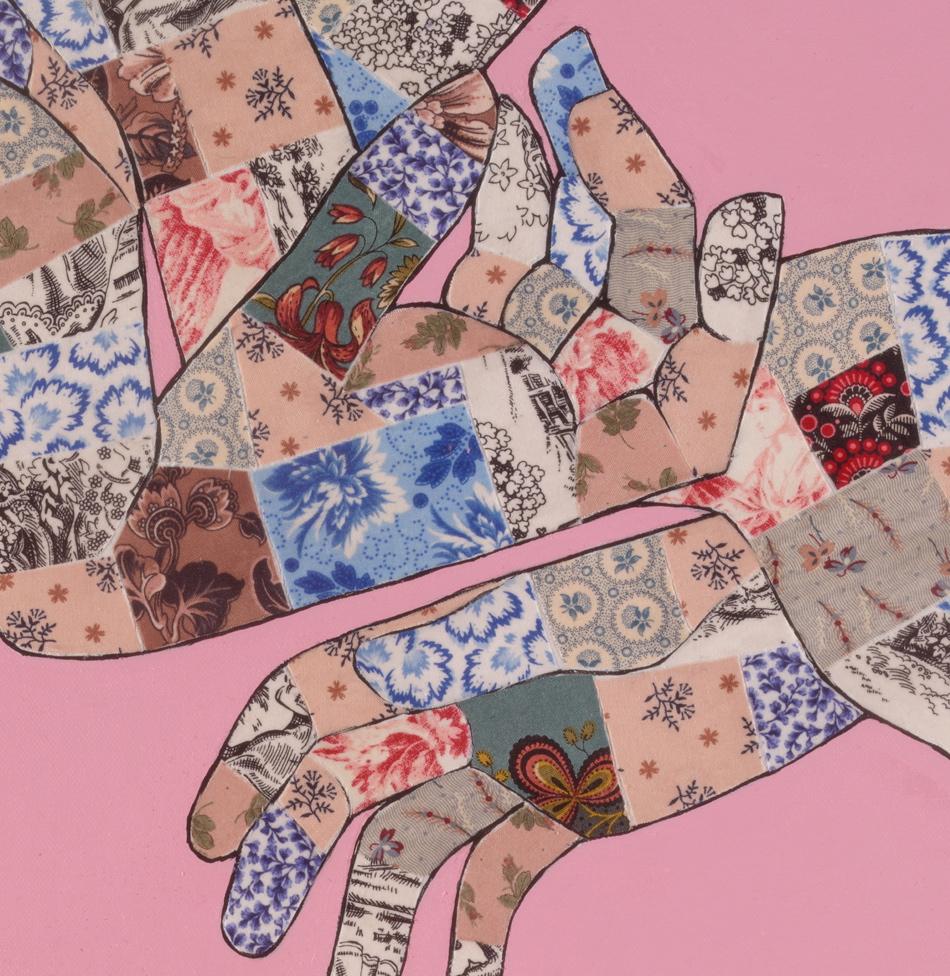 Gesture on pink (detail)