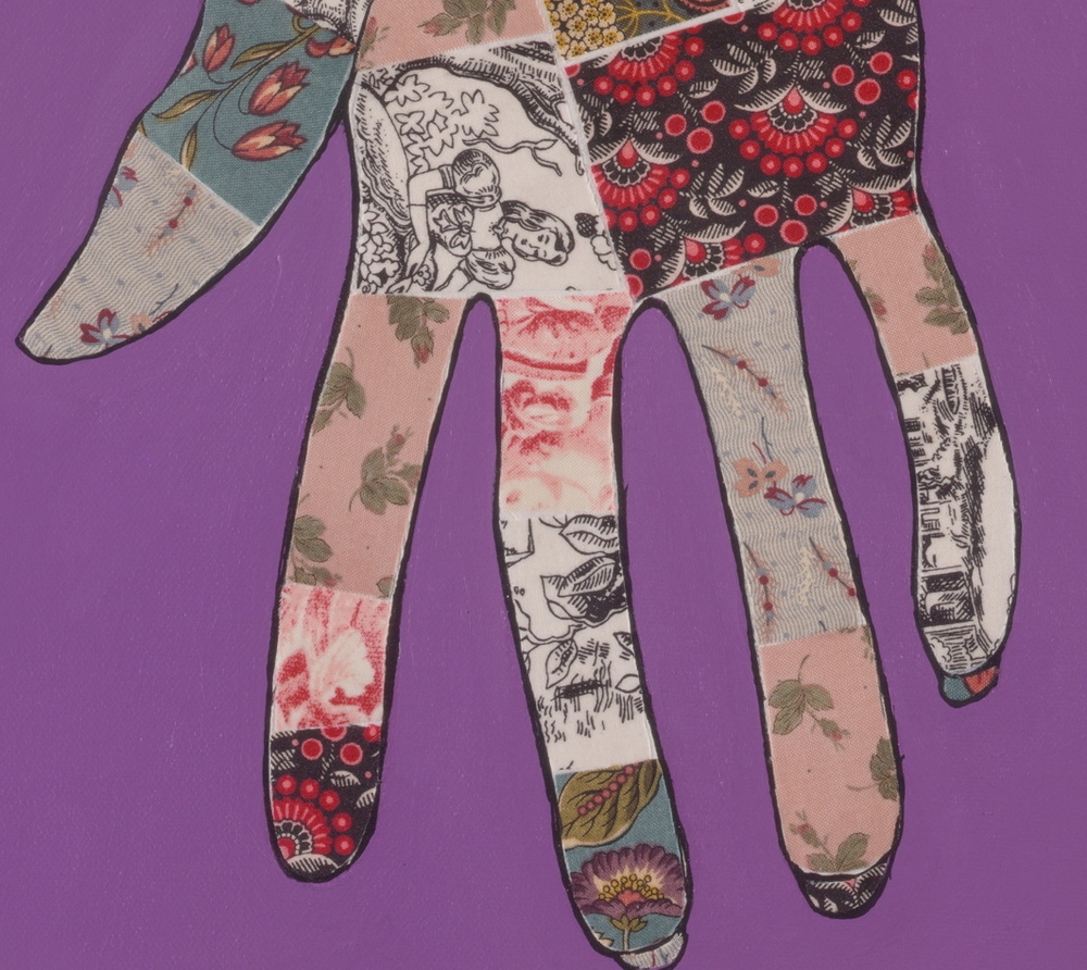 Gesture on purple (detail)