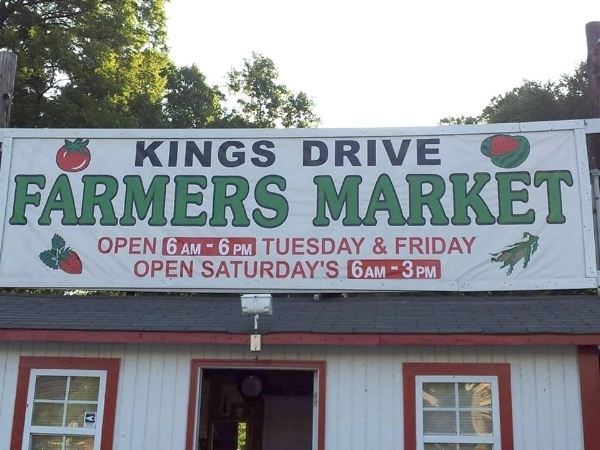Today, Kings Drive Farmers Market is having their Grand Re-Opening. Image courtesy of their  Facebook page .