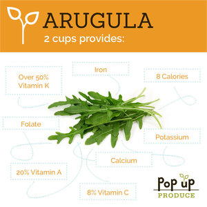 Pop Up Produce Food Facts Arugula