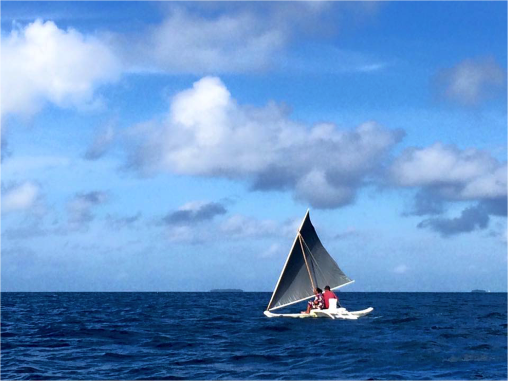 Sailing Canoe Ebon Atoll   Photo coutesy Marshall Is. Marine Resources Authority   Used in its original form on our  Contact  page   CC by 2.0  Usage License