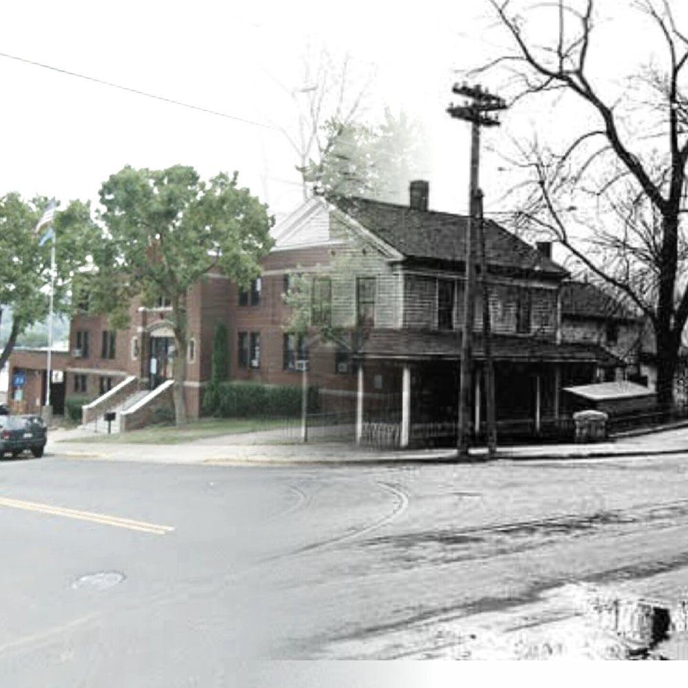 """""""Time Tunnel"""" photo of 3rd and Chestnut Streets from 1922 to 2016. Photo courtesy of Stillwater Public Library, John Runk Collection and Richard Marlow."""