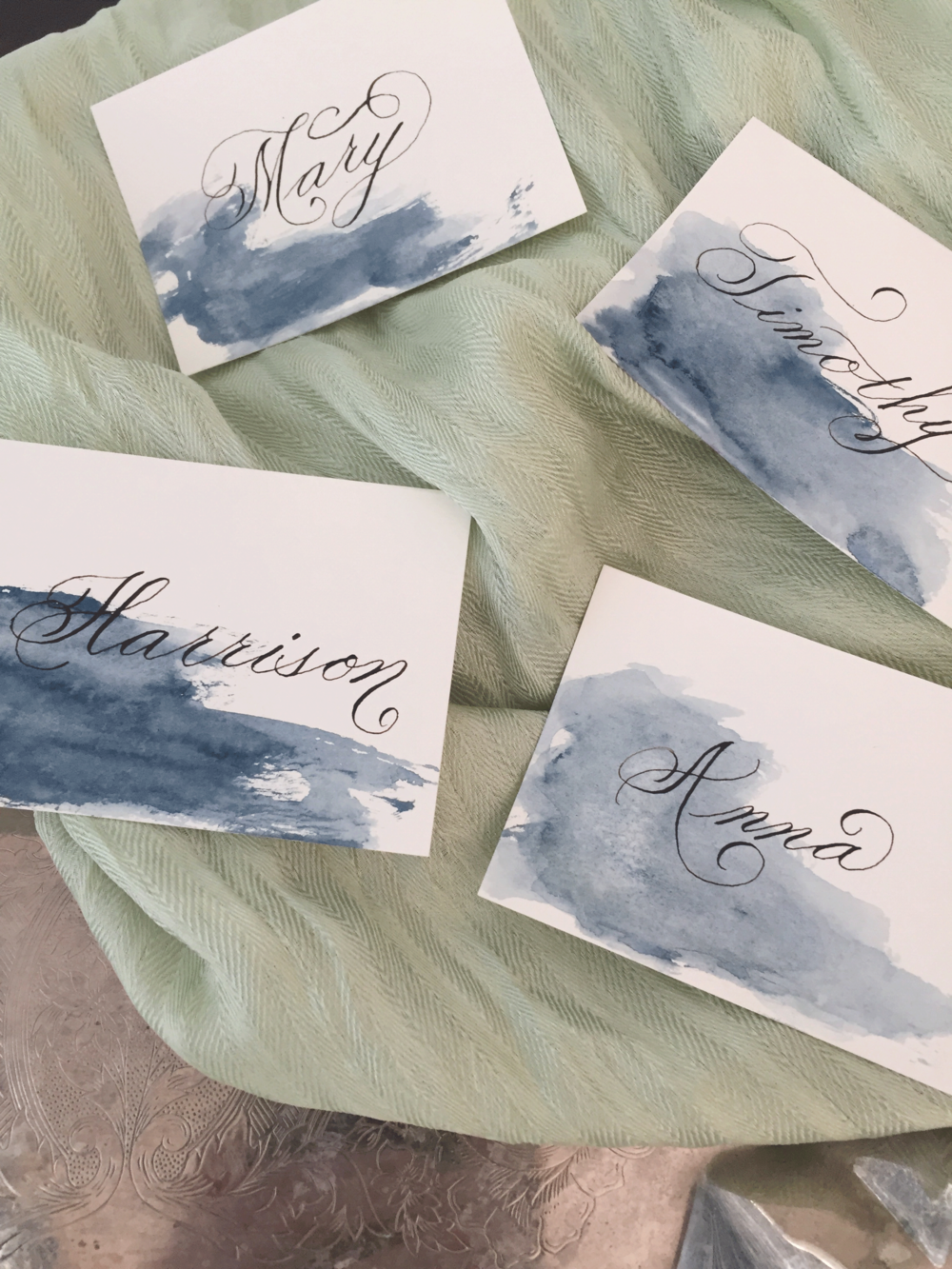 Watercolor Wash and Escort Cards