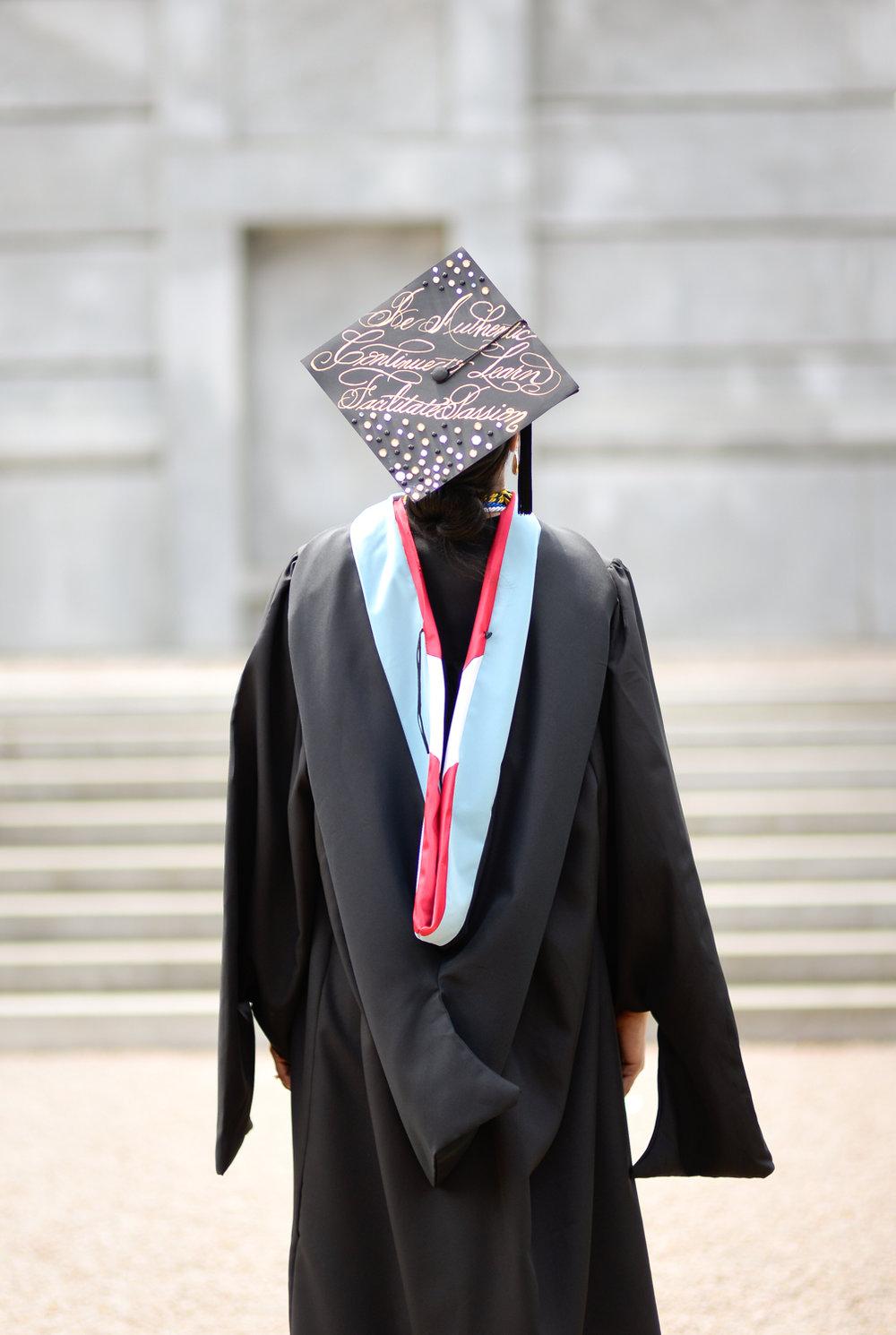 North Carolina State Graduation Cap Calligraphy 5