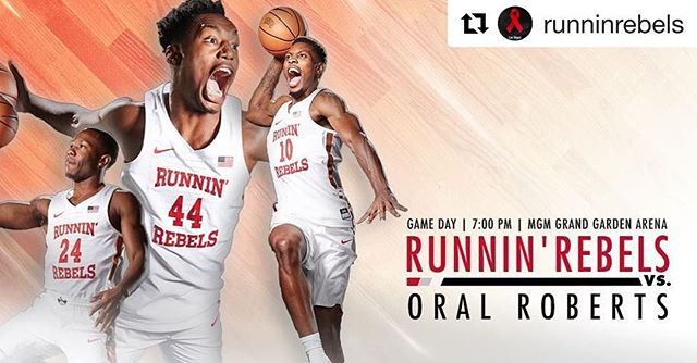 Game day here in Vegas for the @runninrebels  #Repost @runninrebels (@get_repost) ・・・ It's GAME DAY!! #UNLVmbb vs. @orumbb 📍- @mgmgrand 🕕- 7:00 p.m. 🎟- RunninRebelsOnTheStrip.com 📻- @espn1100lasvegas  #UsNowLV  #Overthetoplv #Lasvegas #Basketball #Hooper #HoopDreams #Ballislife #Stars #Nba #Nbdl #Pro #espn #sportscenter #Lakers  #viral #AllAmerican #Warriors #Blazers #Unlv #Celebrity #Rich #RunningRebels #Fundamentals #Fox5 #Ball #Collegelife