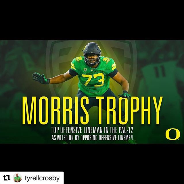 Major sports shout to @tyrellcrosby #Repost @tyrellcrosby (@get_repost) ・・・ It's truly an honor to be named the Morris Trophy winner. Can't thank the support around me enough but thank you @suemccarver @jmacc702 @sydneecrosby @teeshamccrosby @bryliebarnette @ramirez__24 @qkohorst @khaliloliver20 @eddieheardjr and all my family/coaches and my fellow oregon Olinemen Who i couldn't do it without. Then special thanks to @gcthree_ and @blackhawk128716 for all the great looks on defense in practice  #OverthetopLV #LasVegas #NFL #Lineman #Athletes #Success #Crypto #LasVegasStrip #Sports #News #Residence #Hometeam #Ncaa #Pac12 #SportsTeam  #Blogger #BrightLights #Dtlv #Capital  #Football #Oregon #SportsBetting #Fans