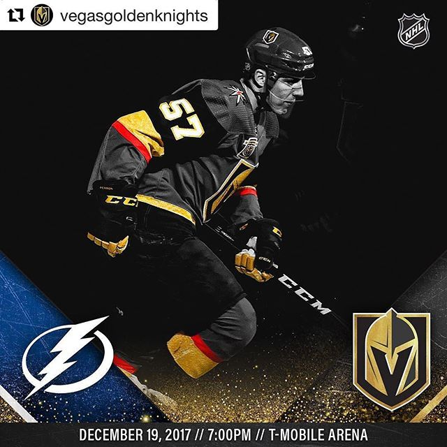 Tonight in Vegas !!!! #Repost @vegasgoldenknights (@get_repost) ・・・ Perron & the Golden Knights take on the top team in the league tonight!🏒👊 Watch live on AT&T SportsNet with Shane Hnidy, Dave Goucher and Aly Lozoff, or listen on Fox Sports 98.9/1340 with Dan D'Uva! #VegasBorn  #Overthetoplv #LasVegas #LV #GoldenKnights #Tampabay #Lightning #Hockey #NHL #Espn #Sportcenter #History #Proteam #Tmobilearena #Unlv #Sports #Media #SportsNews #Coach #Business #BreakingNews #CollegeLife #VegasGoldenKnights #Royalty #King #Coverage