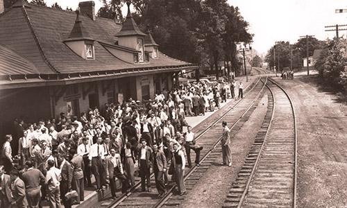 The rebuilt depot   via