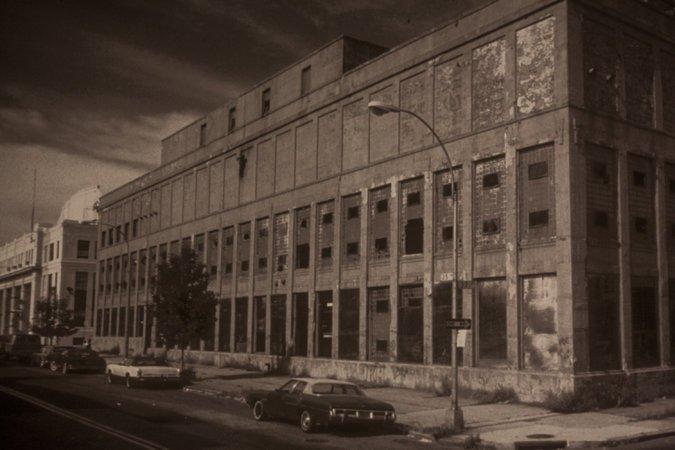 The building in 1983   via