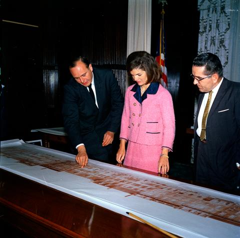 Jackie Kennedy looks at plans for the Renwick   via