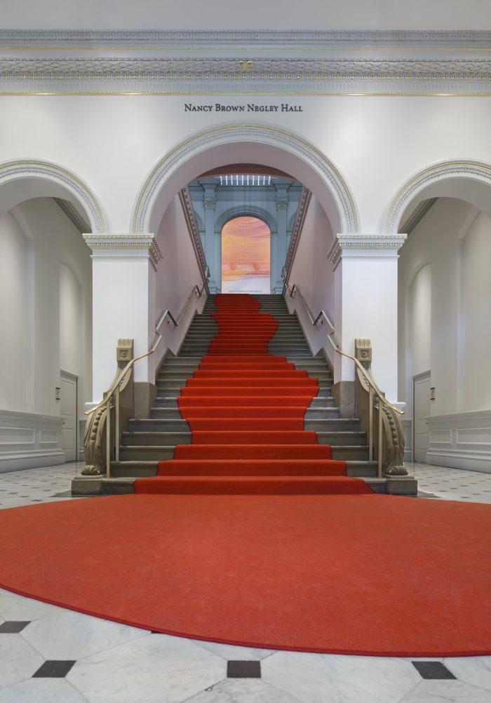 The new entrance   via