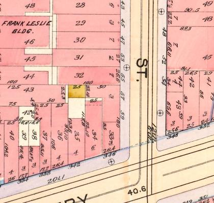 57-59 Great Jones Street, from the 1898 Atlas of the City of New York   via