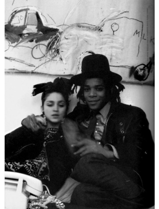 Basquiat and Madonna, 1983  via
